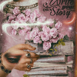 art beauty roses oldbooks papereffect
