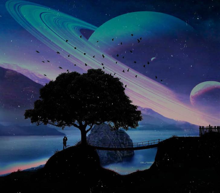 #freetoedit #space #espaço #silueta #siluet #magic #magical #fantasy #fantasyart #magico #fantasia