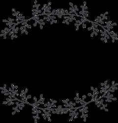 laurel wreath botanical wedding frame freetoedit