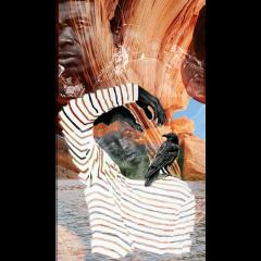 doubleexposure etnic collage freetoedit