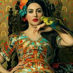 freetoedit rainbowstroke rainbows woman queenly