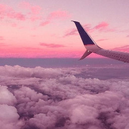 airplane pink aesthetic