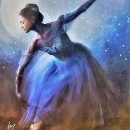 freetoedit ballerina beautiful beauty moon