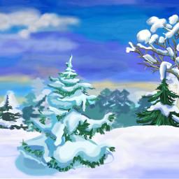 mydrawing mypainting winter winterwonderland white dcwinterwonderland