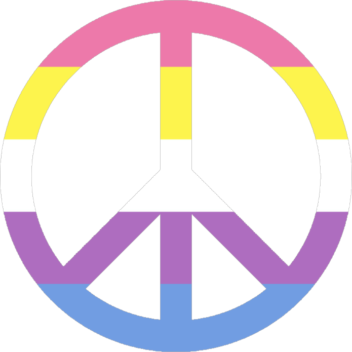credit: pride-icons-for-all-the-queers on Tumblr #peacesign #lgbt+ #bigender #pride #lovewins #freetoedit