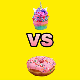 freetoedit sweets donuts cupcake vs