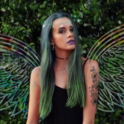 redo tattoo coloredhair girl freetoedit