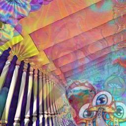 freetoedit trippy aliceinwonderland mushroom psychedelic