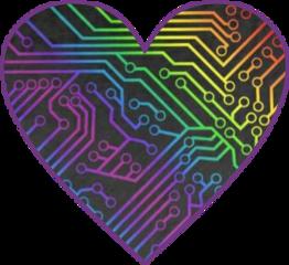 freetoedit heart circuitboard colorful circuit