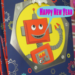 photography cartoon robot giftbag happynewyear2020