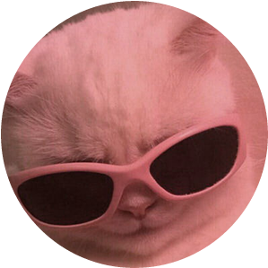 ##cat #meme #fab #glasses #pink #white #kitty