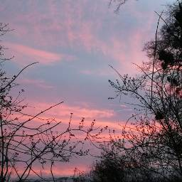 sky winter colourful sunset