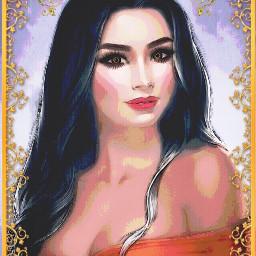 freetoedit beautiful girl elegant art