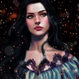 art mistic girl beautiful picsart
