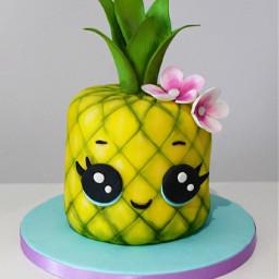freetoedit pineapple🍍 ananas cake kawaii
