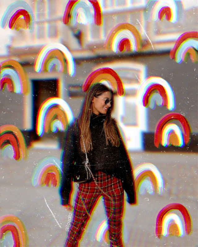 Do not remove photo credit #freetoedit #aesthetic #rainbow #vintage #picsart #tumblr