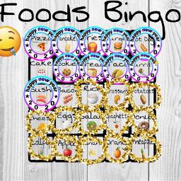freetoedit foods bingo