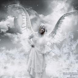 angel freetoedit winter ice exposure