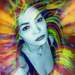 freetoedit artisticportrait remixedwithpicsart colorful magiceffect