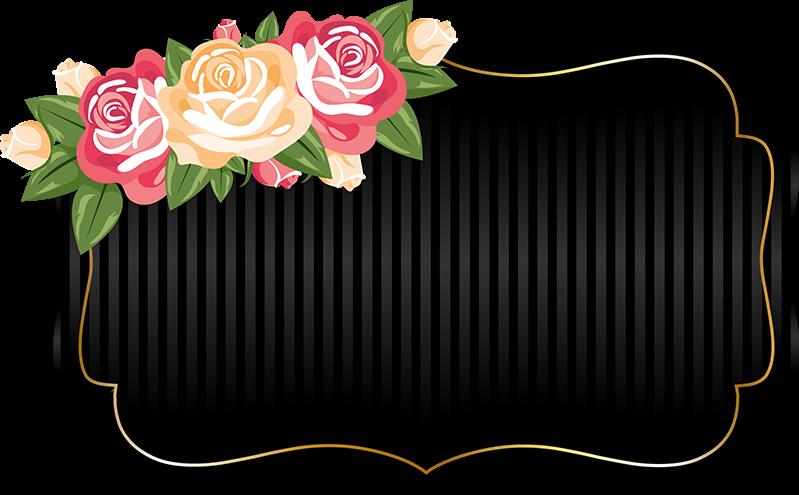 #adesivo #flores #preto #flowers #black #picsart