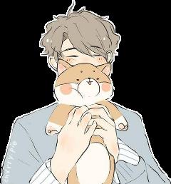 boy dog anime kun kawaii freetoedit