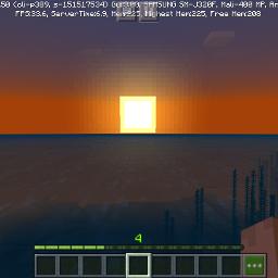 minecraft sunset serenity