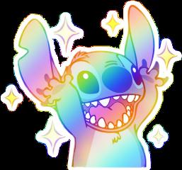 freetoedit rainbow joy stars stitch