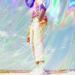 hologram holographic overlay trendy colors freetoedit