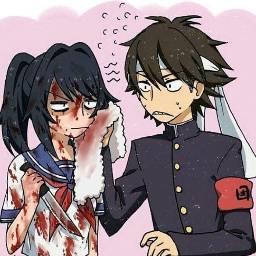 yandere blood yanderesimulator anime dailyanime freetoedit