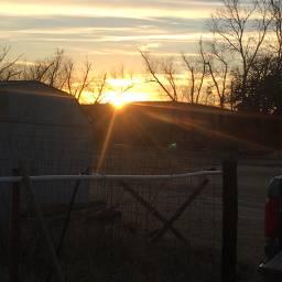 sunset backyard country