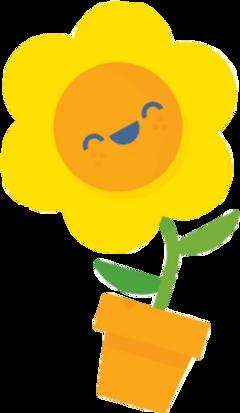 flower comic blume sommer gelb freetoedit