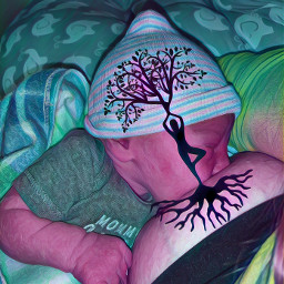 freetoedit brelfie treeoflife breastfeeding bonding