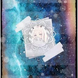 freetoedit galaxy girl anime colourful