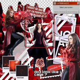 marvel red white black scarletwitch