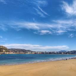 donostia bay beach sea sky