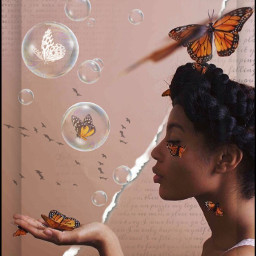 freetoedit butterflys butterfly bubble bubbles