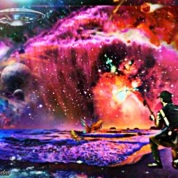 freetoedit space spaceship nebula fantasyart