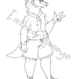 drawing anthro dragon furry self