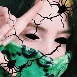 spooky spookybats billie billieeilish green scary freetoedit