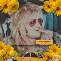 yellowaesthetic goodvibes rogertaylor drummer queenband freetoedit
