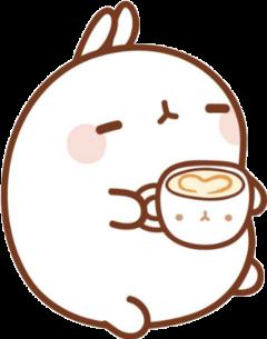 kawaii cute rabbit cup coffee freetoedit
