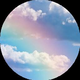 nubes circulo arcoiris tumblr freetoedit scclouds clouds