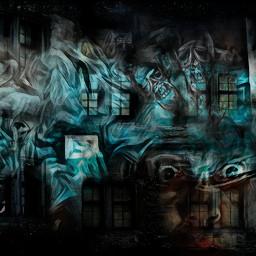 ghost hauntedhouse schizophrenia freetoedit