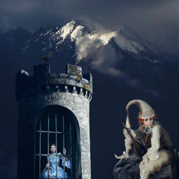 freetoedit fairytail princess tower pierrot