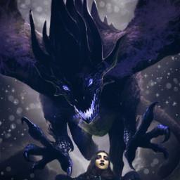 freetoedit dark dragon gothiclook gothicgirl