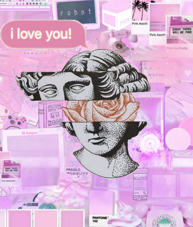 Pueden seguirme para más <3/You can follow me for more <3   #freetoedit #aesthetic #girl #pink #tumblr  #edit