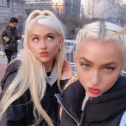 freetoedit blonde beijing china twins