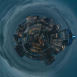tinyplanet tinyplaneteffect world city freetoedit