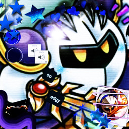 freetoedit metaknight kirby icon aesthetic