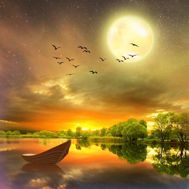 #freetoedit #landscape #scenery #lake #nighttime #moonlight #sunset #skylovers #skyporn #naturesbeauty #aestheticedit #becreative #myedit #madewithpicsart
